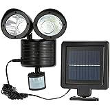 22 LED Solar Light Body Sensor Outdoor Wall Lamp Double-Headed Spotlights Highlight for Garden Yard Dropshipping 2019 New 6W