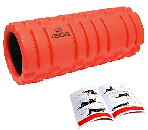 DB Praise グリッドフォームローラー Foam Roller 9色 スポーツ トレーニング ストレッチ 器具 解説書付き (G Red)