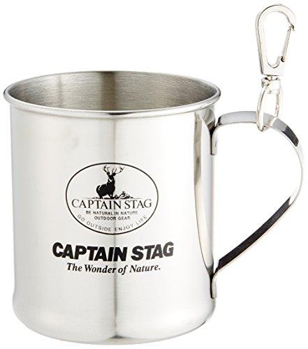 キャプテンスタッグ アウトドア用 コップ マグカップ ステンレス レジェルテ 300ml スナップ付 M-1244
