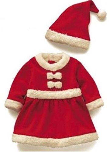 赤ちゃん 子供用 サンタ クリスマス 衣装 ベビー キッズ コスチューム (80cm, 女の子)...