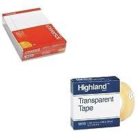 KITMMM59101296UNV20630 - バリューキット - ハイランド透明テープ (MMM59101296) およびユニバーサル穴あきエッジライティングパッド (UNV20630)