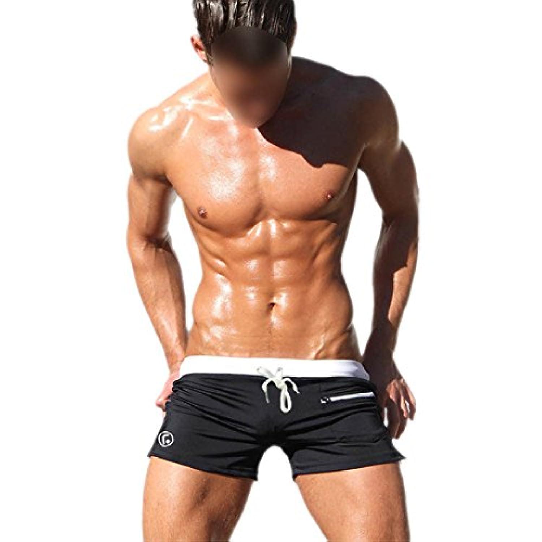 Hzjundasi スイミングトランク スイミングトランクス メンズ 男性水着 サーフパンツ 水泳パンツ 海水パンツ 速乾性パンツ ファッション