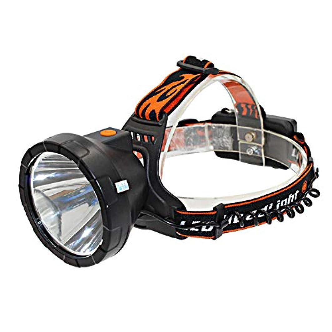 経験者解くマルコポーロ新しいLEDヘッドライトT6ランプビーズDCインターフェース屋外の強いヘッドマウントマイナーズランプ18650ランプシェード付き屋外キャンプ釣りハイキング