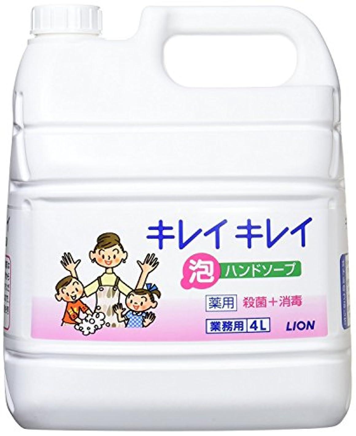 包括的口述する変化キレイキレイ薬用泡ハンドソープ4L