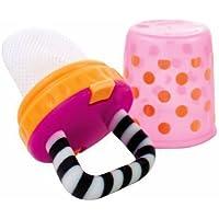 Sassy Polka Dots Teething Feeder - Pink - Orange (Girls) by Sassy [並行輸入品]