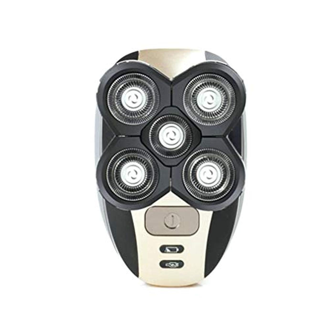 特徴センチメンタル実行メンズヘッドカミソリシェーバー電気充電式防水ボールドヘッドシェービングマシンフェイスケアツールEUタイプファイブフローティングヘッド