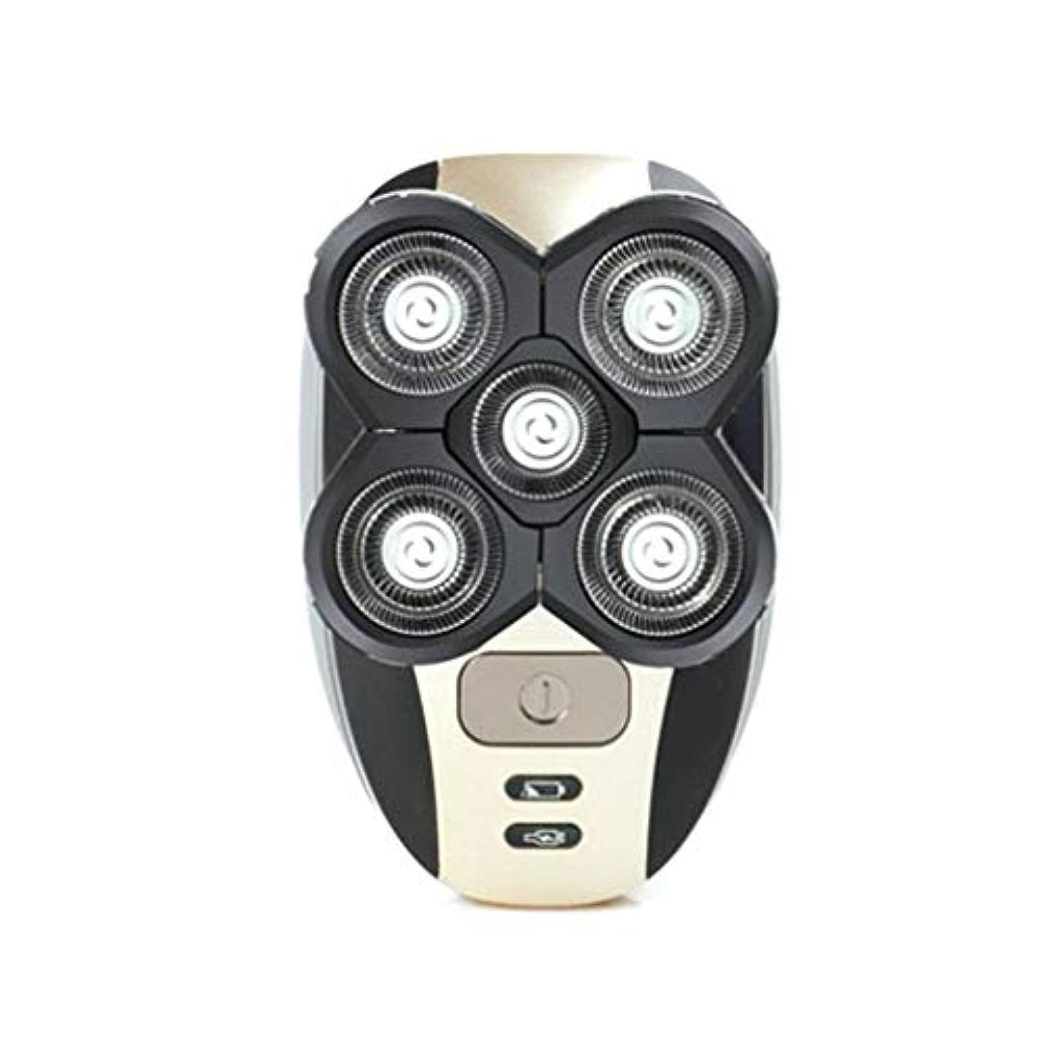 ピッチャーロボットこどもの宮殿メンズヘッドカミソリシェーバー電気充電式防水ボールドヘッドシェービングマシンフェイスケアツールEUタイプファイブフローティングヘッド