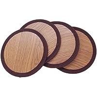 萩原 座布団 ブラウン 直径約16cm 座卓敷き リバーシブル 「座卓座布団 丸型」 4枚組 144001071