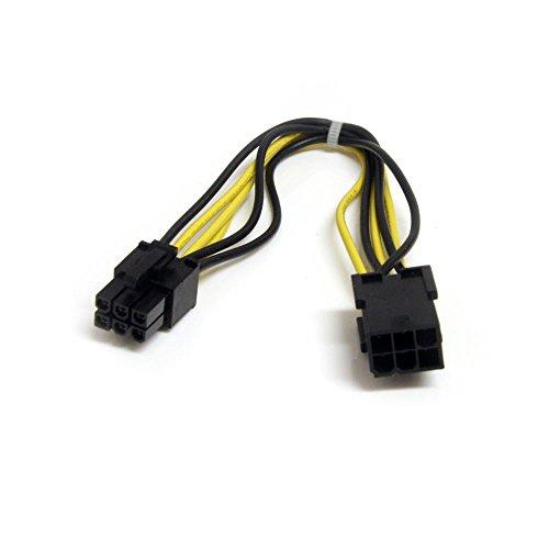 StarTech 20cm 6ピン PCI Express電源 延長ケーブル 1x 6ピン メス - 1x 6ピン オス PCIEPOWEXT 1個