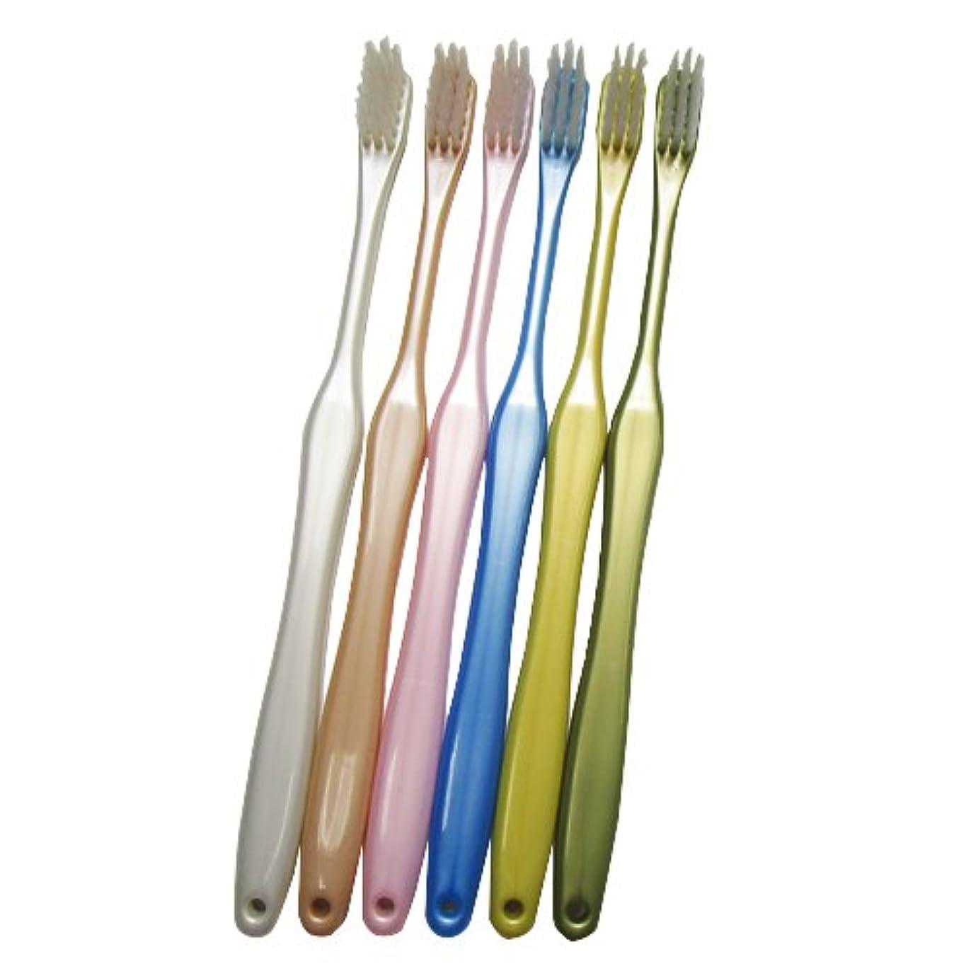 砲撃グレートオークスコア歯ブラシ職人 田辺重吉考案 磨きやすい歯ブラシ 先細 お試し2本セット(カラーはおまかせ)