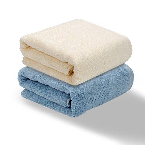 バスタオル Dorcy コットン 綿100% 2枚セット タオル 厚地 380g一枚あたり 140cm×70cm (セット1)