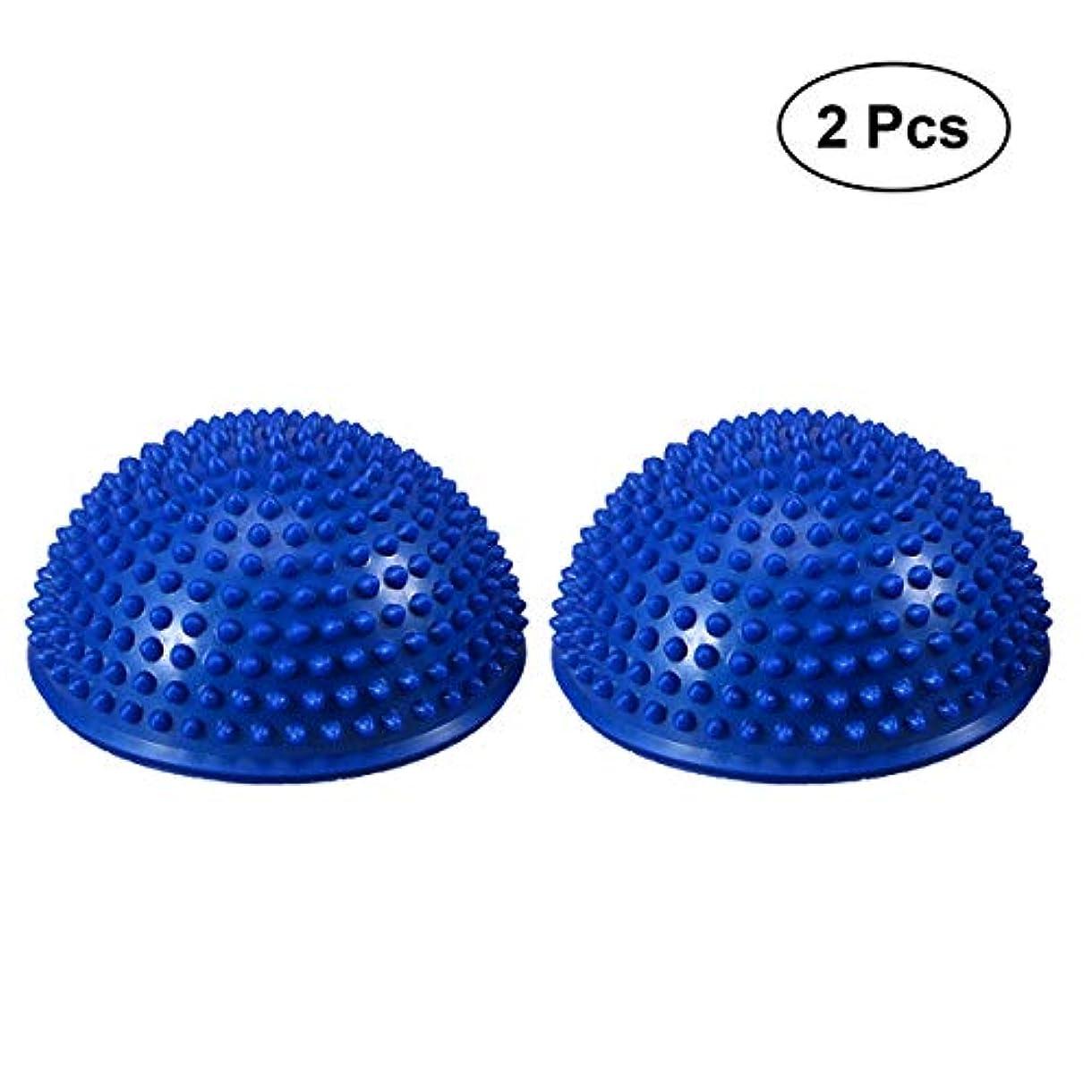 遮る哀ジャベスウィルソンVORCOOL 膨張した安定性揺動クッションバランスディスク安定性コアトレーニングのための可動性バランストレーナー物理的リハビリテーションヨガエクササイズ(ブルー)