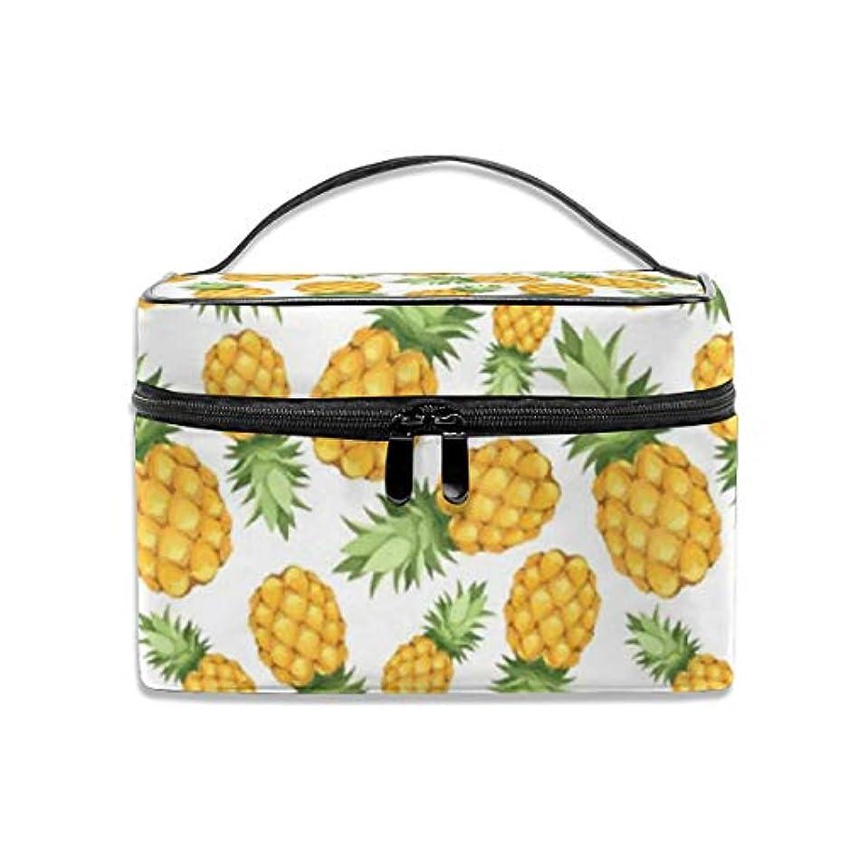 血まみれサラミ見るパイナップル柄 化粧ポーチ 化粧品バッグ 化粧品収納バッグ 収納バッグ 防水ウォッシュバッグ ポータブル 持ち運び便利 大容量 軽量 ユニセックス 旅行する