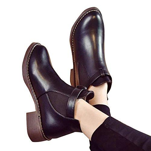 (ノーブランド品) 靴 ブーティー ブーツ ショートブーツ レディース サイドゴア 黒 ブラック ラウンドトゥ ローヒール