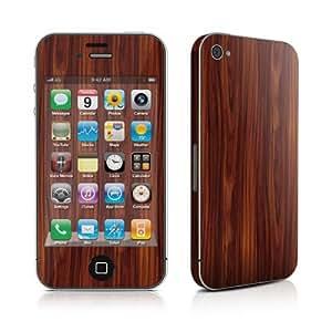 Apple iPhone4/iPhone 4S用スキンシール【Dark Rosewood】