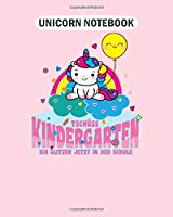 Unicorn Notebook: school enrolment sweet unicorn rainbow saying  College Ruled - 50 sheets, 100 pages - 8 x 10 inches
