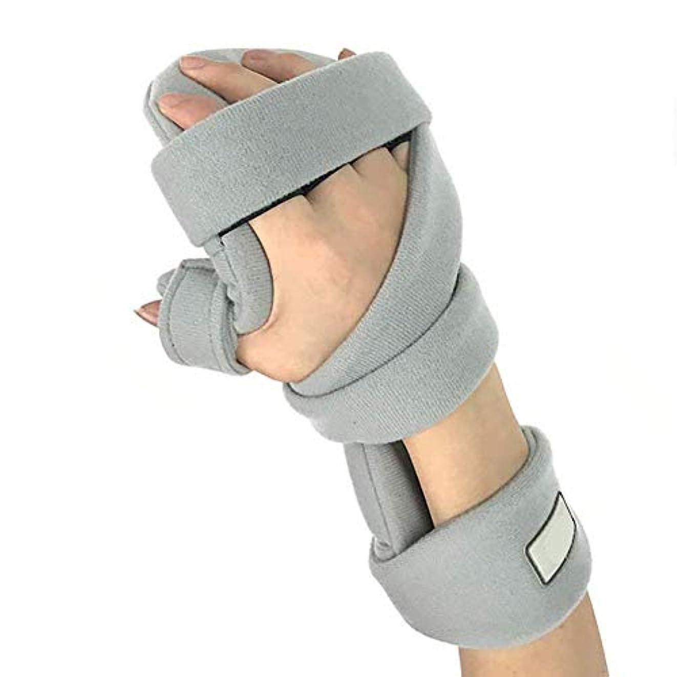 そんなに勢い賄賂指トレーニング装置 - 指副子 - 脳卒中/片麻痺/手首の痛みのための脳卒中リハビリ機器指矯正装置 (Color : Right)