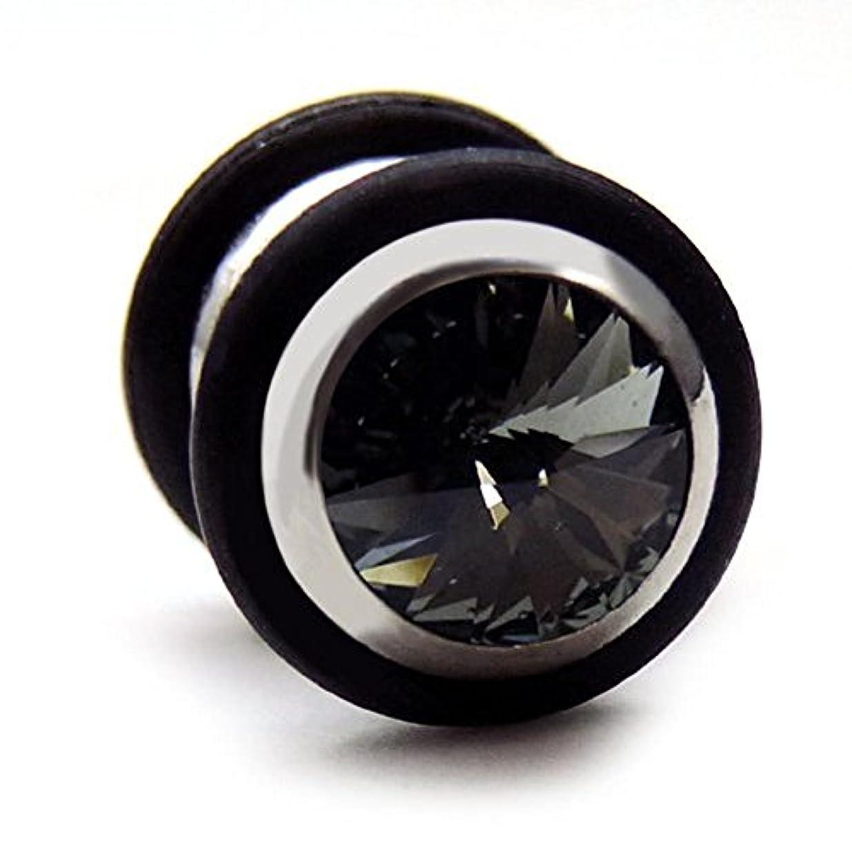努力ジャズお願いしますスワンユニオン swanunion 黒丸型 片耳 磁石 マグピ ステンレス製 フェイクピアス fp22-M