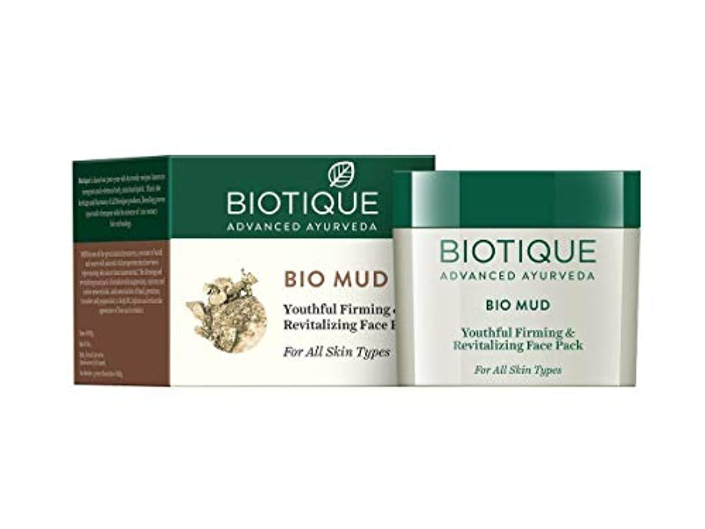 Biotique Mud Youthful Firming & Revitalizing Face Pack For All Skin Types 75 gm すべての肌タイプのためのBiotique泥若々しい引き締めと...