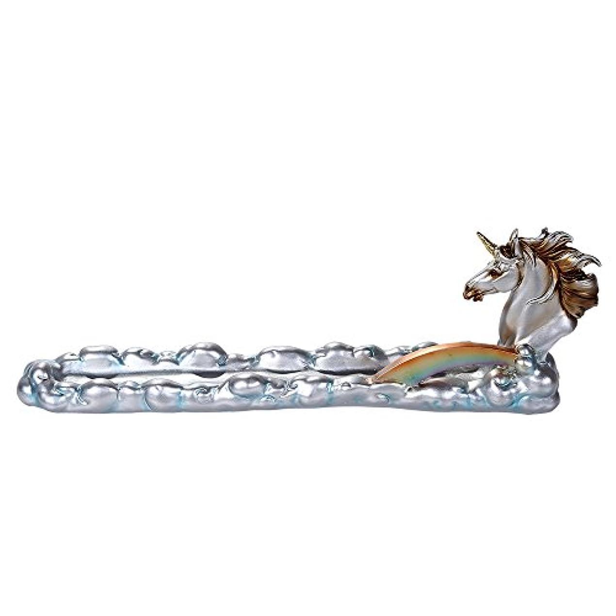 寄り添う炭水化物銃ファンタジーWonderlandユニコーンoverカラフルなレインボーブリッジStick Incense Holder 12インチL