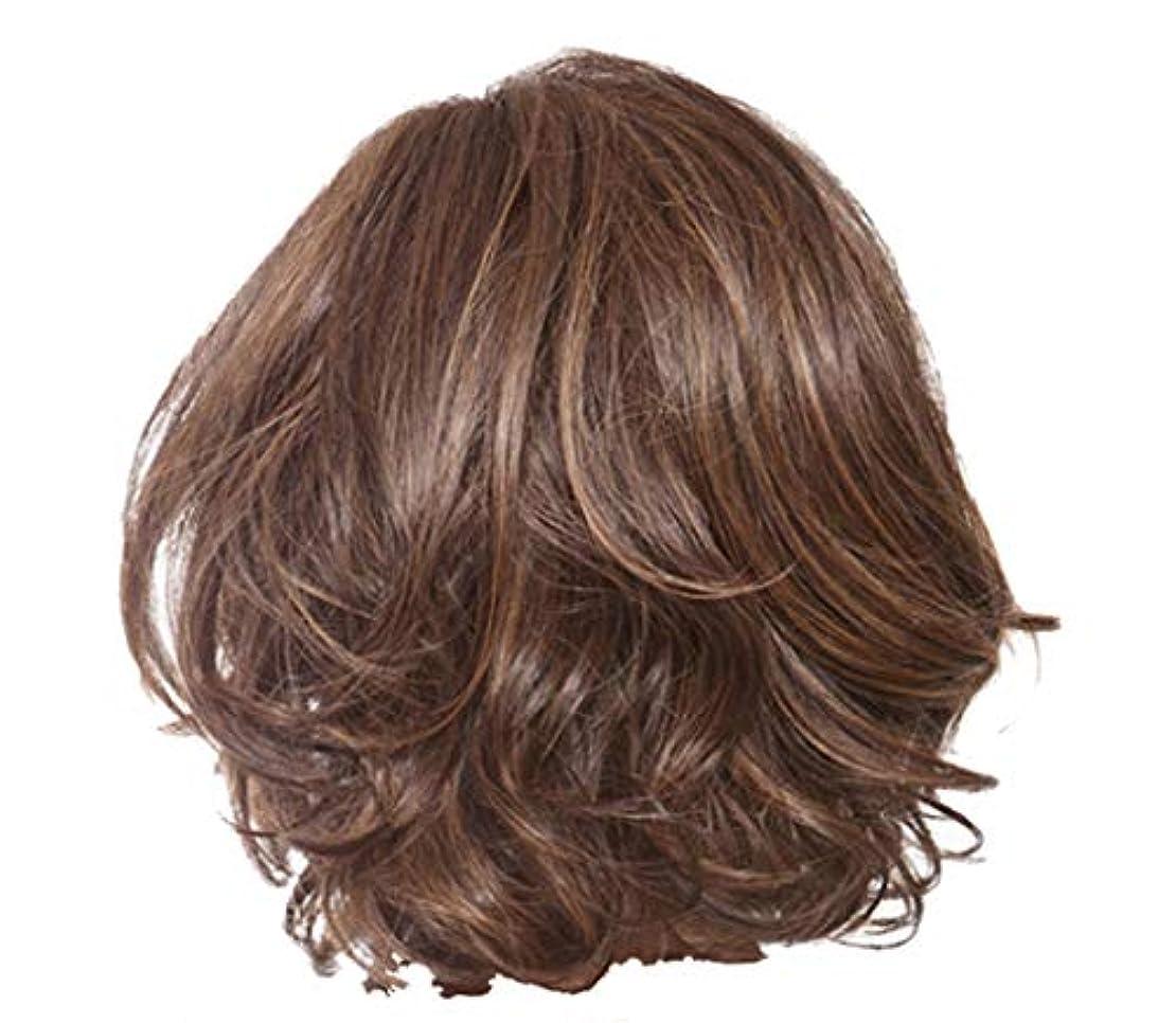 ファウル遵守するバッテリーウィッグ女性のセクシーな短い巻き毛のかつらクールなハンサムなかつら36 cm