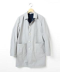 Reversible Balmacaan Coat 51-19-0103-012: Navy / Beige