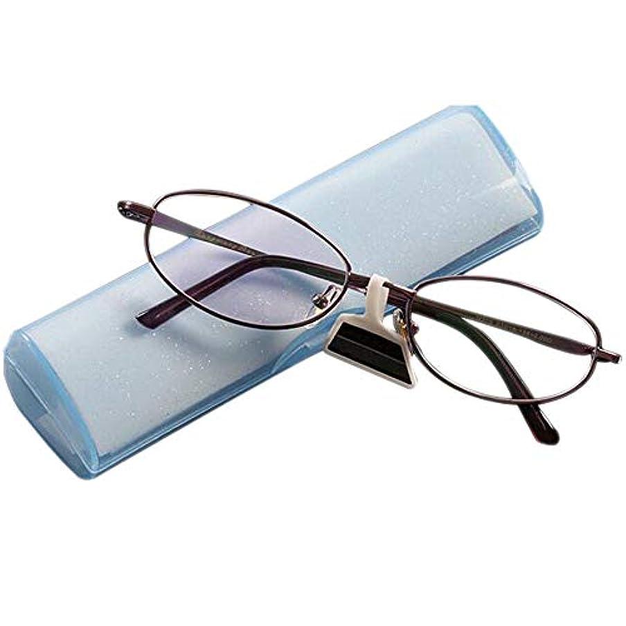 スリップシューズ襲撃無一文FidgetGear レトロな老眼鏡1.0?4.0薄紫色の楕円形の金属フレームエレガントなアイウェア 紫の