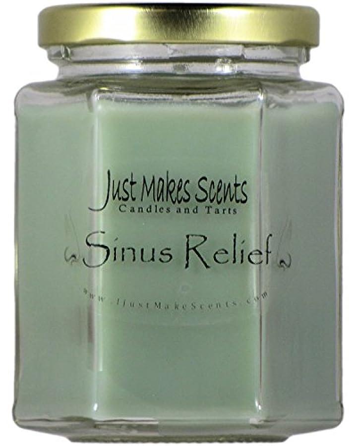 崇拝します硬化する低下Sinus Relief ( Vicks Vapor Rubタイプ)香りつきBlended Soy Candle by Just Makes Scents ( 8オンス)