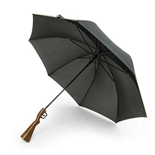 RELAX 長傘 ライフル傘 レミントン アンブレラ (直径115cm) ブラウン / ブラック 梅雨対策