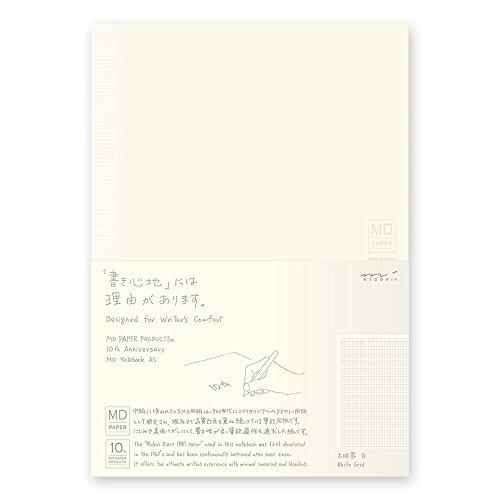 ミドリ ノート MDノート A5 10th 方眼罫 白 15229006