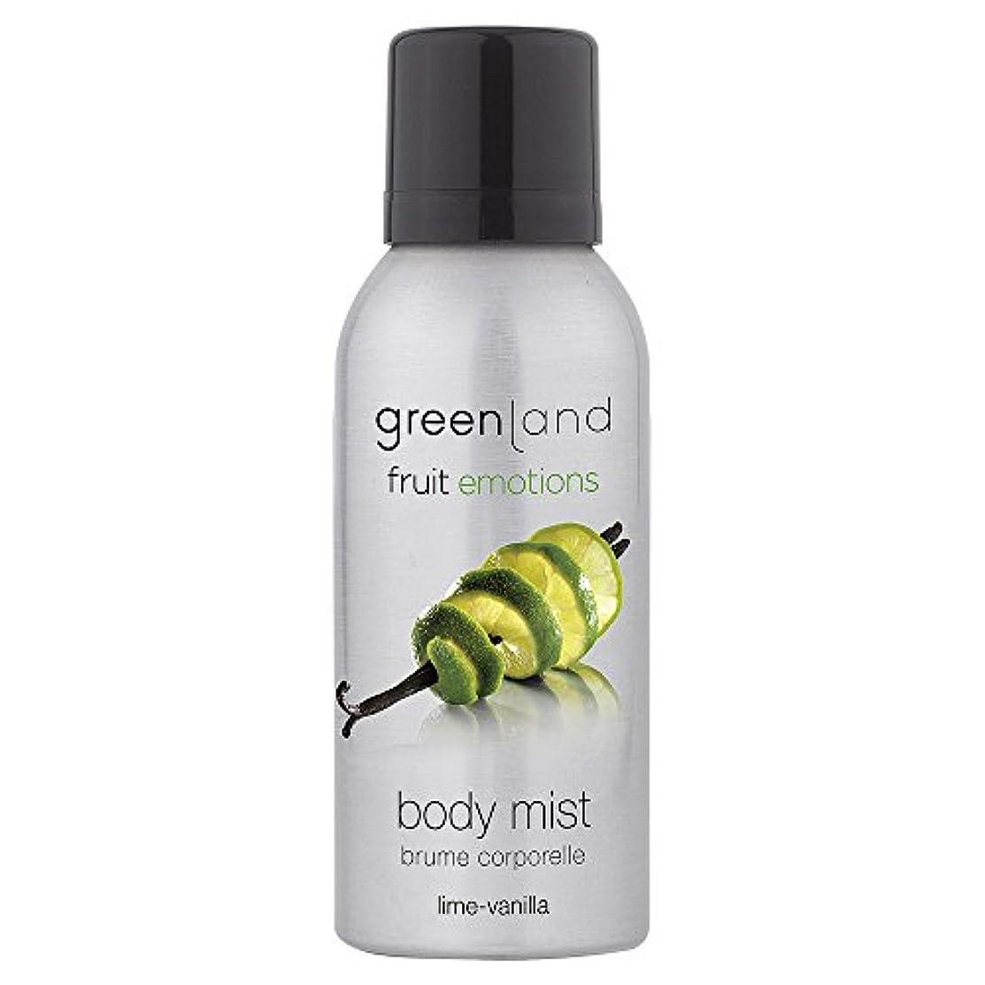 連続的物思いにふける全体greenland ボディミスト [FruitEmotions] 75ml ライム&バニラ FE0204