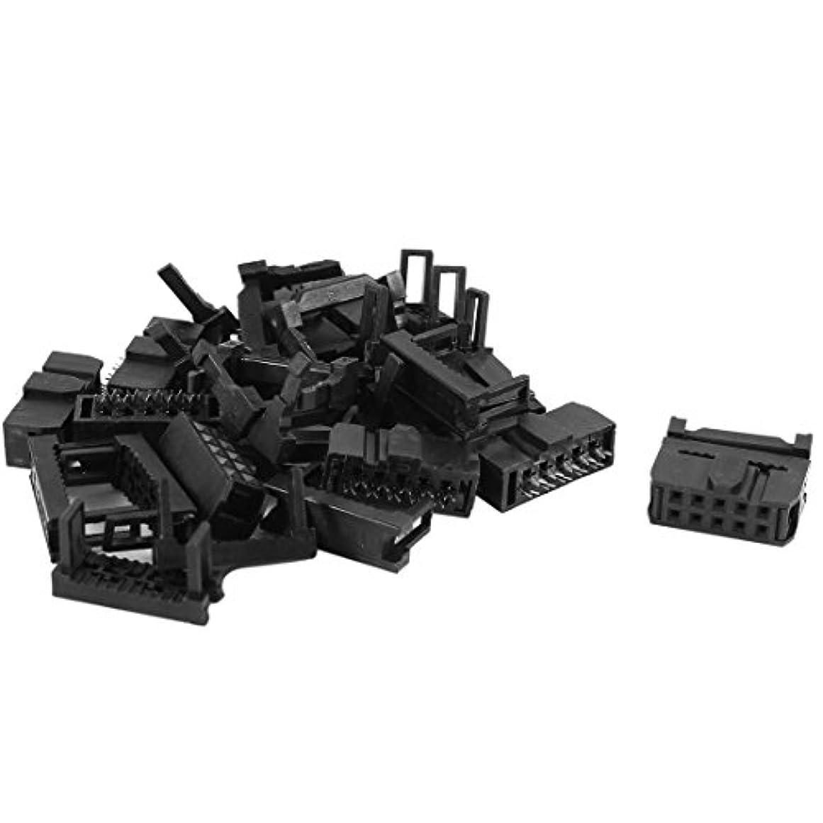 縁気配りのある面uxcell 3 1 JTAGソケット コネクタセット IDCソケットコネクタ 3 1 JTAGソケット連結器セット 10個 フラットケーブル 10ピン 2.54mm