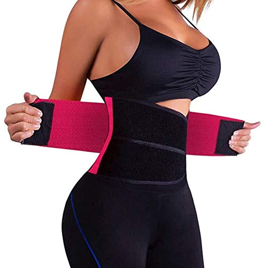 階層スリーブ意図的腰部サポートベルト 腰部サポートベルト、男性と女性の女性のための腰部ベルト体シェイパーベルトトレーニング調整可能なネオプレンダブルプル腰部サポート腰部ベルトブレース