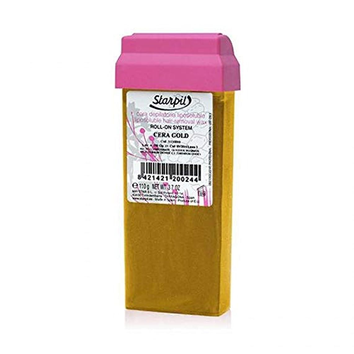陪審悲惨緩めるプロ用?業務用ブラジリアンワックス ロールオンワックスStarpil Wax:ゴールド(ORO) 110g 5本セット