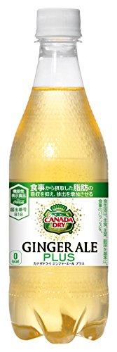 コカ・コーラ カナダドライ ジンジャーエール プラス ペットボトル 500ml×24本 [機能性表示食品]