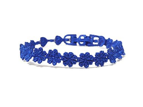 [해외]에이씨 에이 자수 가공품 제품 AcA EMBROIDERY PRODUCT 미산가 팔찌 발찌 행운 부적 Flower Heart 블루 사업운 학업 향상 UP/ACE EMBROIDERY PRODUCT AcA EMBROIDERY PRODUCT Misanga Bracelet Anklet Lucky Charm Flower Heart Blue Job Learning I...