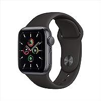 Apple Watch SE(GPSモデル)- 40mmスペースグレイアルミニウムケースとブラックスポーツバンド