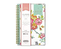 "Day Designer for Blue Sky 2019 Weekly & Monthly Planner,Flexible Cover,Twin-Wire Binding,5"" x 8"",Peyton White [並行輸入品]"