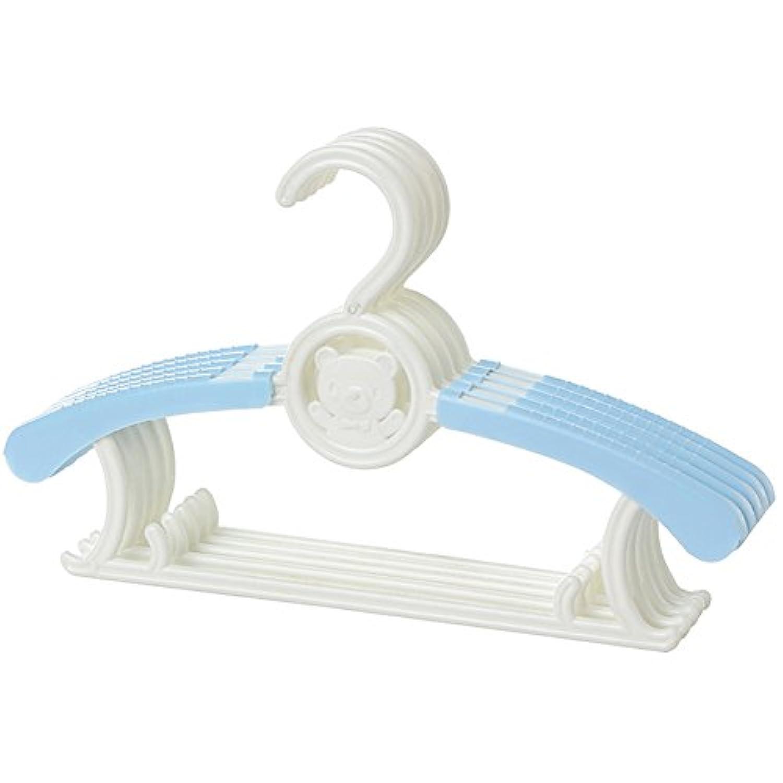 Ymgot ベビー ハンガー すべらない 10本セット 伸縮式 衣類ハンガー 一個二役 多機能 ベビー 用品 (ブルー)