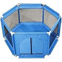 マ・チョン ガードレール 赤ちゃんの子供の安全屋内プレイフェンス赤ちゃんの保護フェンス (色 : 青)