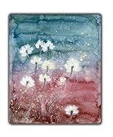 Aviva-Amanda マウスパッド 水彩画 ブルーとピンク きれいな花 ユニークなデザイン  オカスタマイズ 光学式対応 モダン(プレゼント付き)