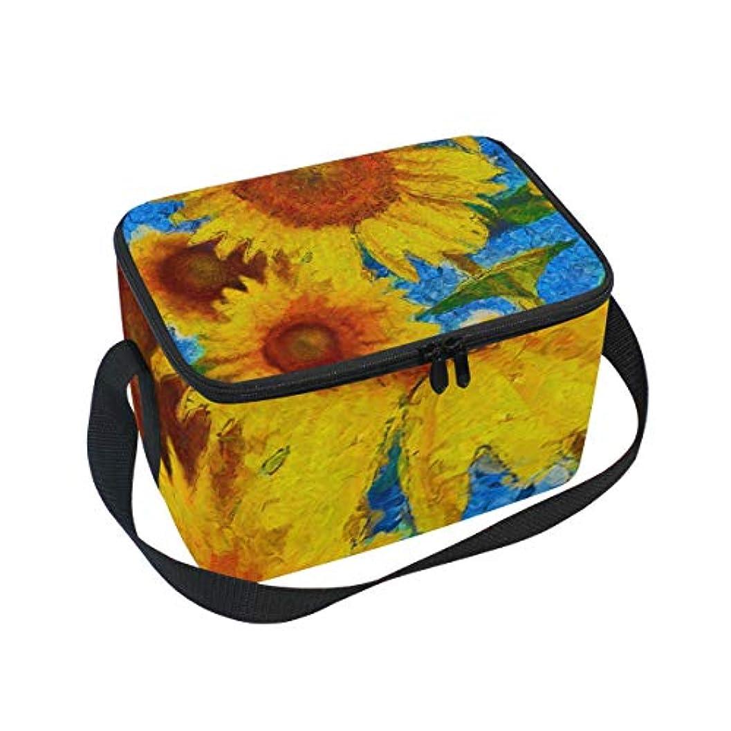 強風甘くするローストクーラーバッグ クーラーボックス ソフトクーラ 冷蔵ボックス キャンプ用品 ひまわり 黄色 保冷保温 大容量 肩掛け お花見 アウトドア