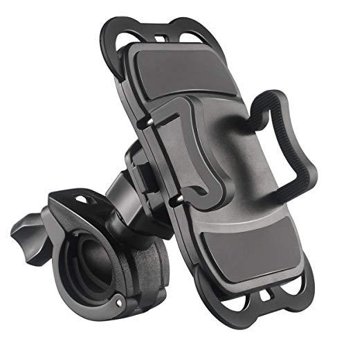 Asota 自転車ホルダー 携帯ホルダー 落下防止 4.9 5.5インチ 多機種対応 角度調整 360度回転 着脱簡単 強力な保護 1年間保証 ブラック