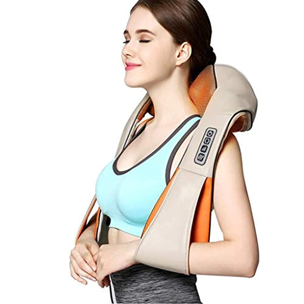 先行するひいきにする合唱団指圧ネックの肩のマッサージャー - 3D深いティッシュの混合の首、肩、背中、足、マッサージの痛みを緩和する電気バックマッサージ枕車のオフィスや家庭でリラックス (Color : 4buttons)