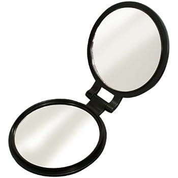10倍拡大鏡付き 両面コンパクトミラー YL-10
