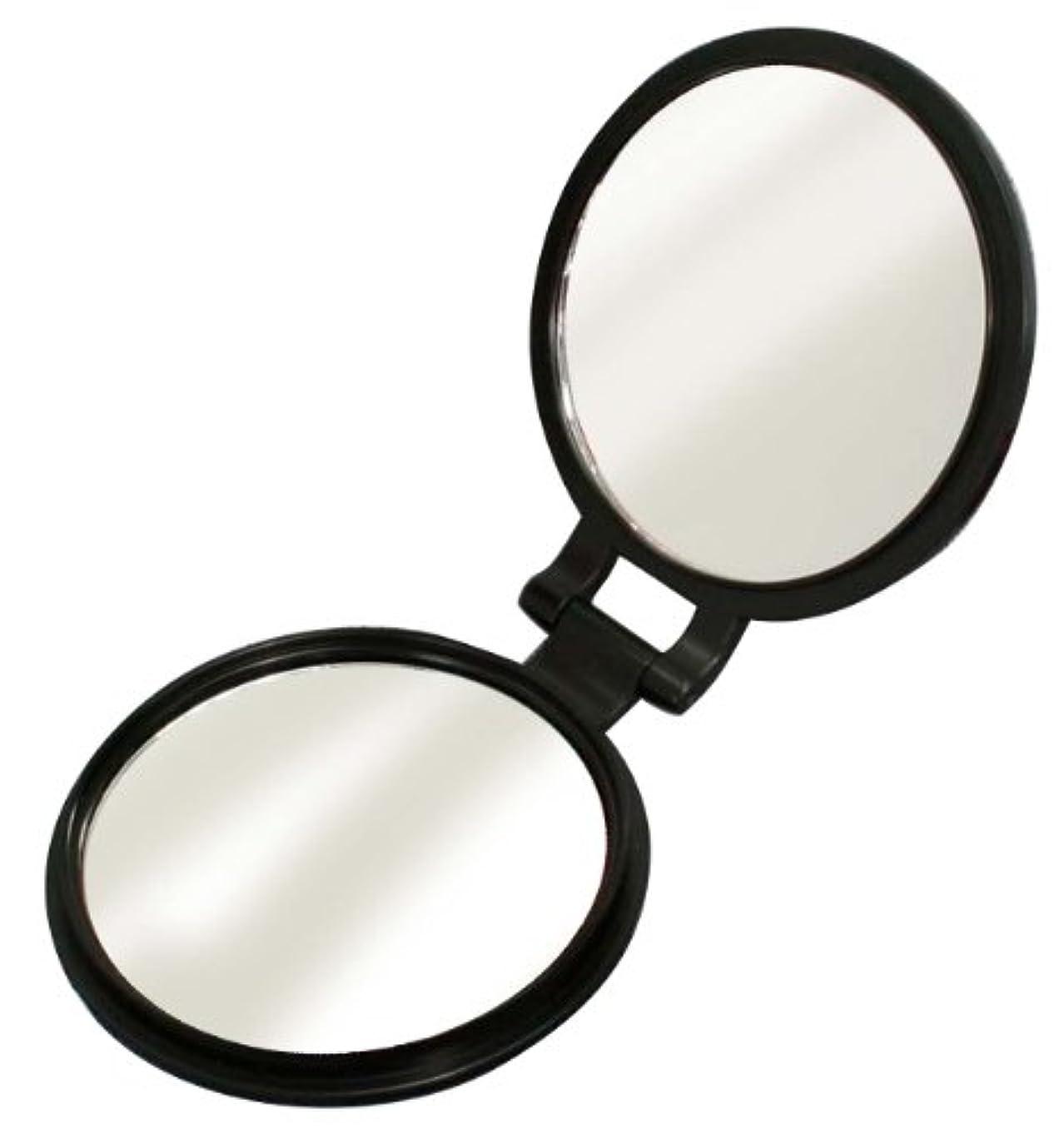 メタルライン気になる除外する10倍拡大鏡付き 両面コンパクトミラー YL-10