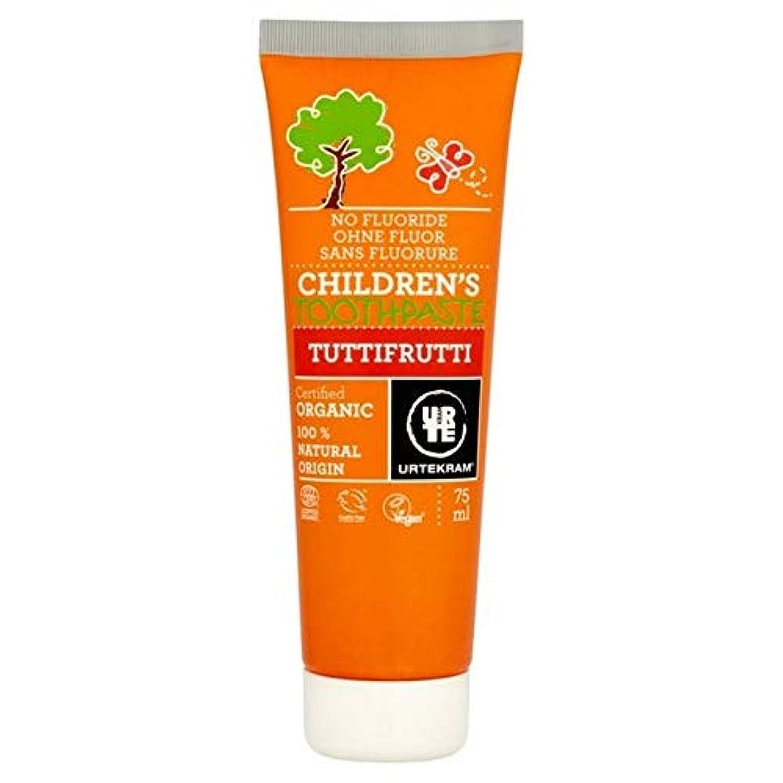 感謝祭ガラス繊毛[Urtekram] Urtekram子供のトゥッティフルッティの歯磨き粉75ミリリットル - Urtekram Children's Tutti Frutti Toothpaste 75ml [並行輸入品]