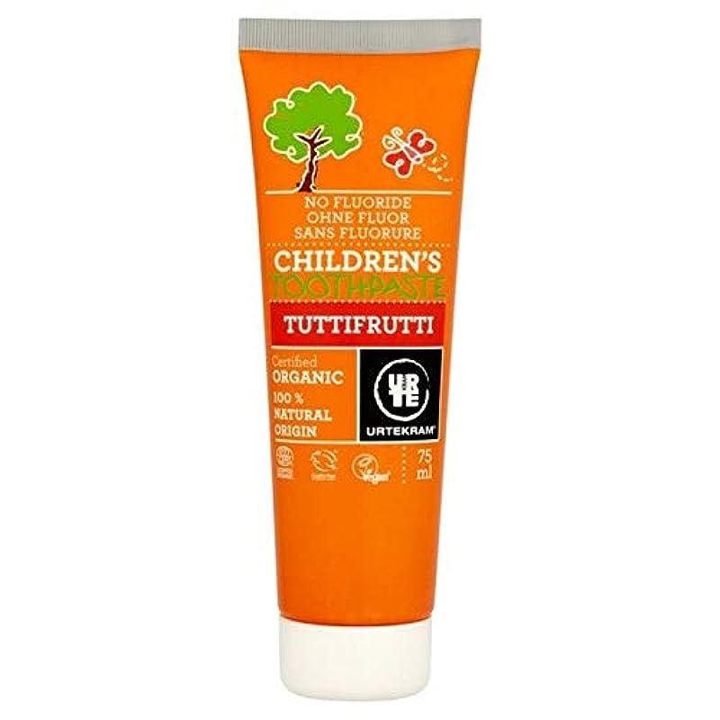 人類ベスビオ山結果[Urtekram] Urtekram子供のトゥッティフルッティの歯磨き粉75ミリリットル - Urtekram Children's Tutti Frutti Toothpaste 75ml [並行輸入品]