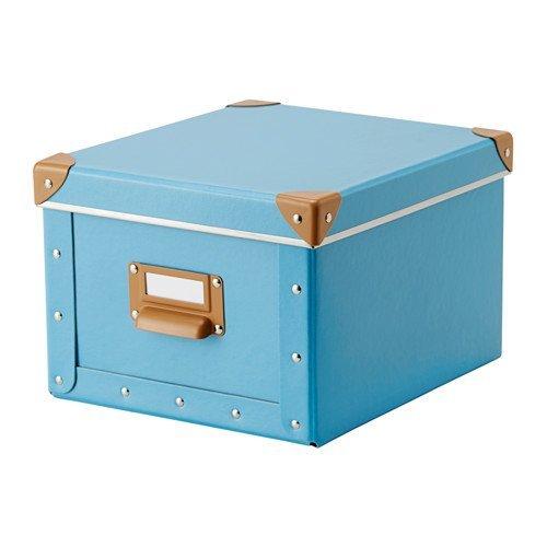 IKEA FJÄLLAふた付きボックス、ブルー