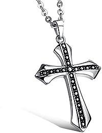 MFYS Jewelry ファッション メンズ 大きめクロス ビンテージ 十字架 (チェーン付) ペンダント ネックレス【専用ジュエリーBOX付】